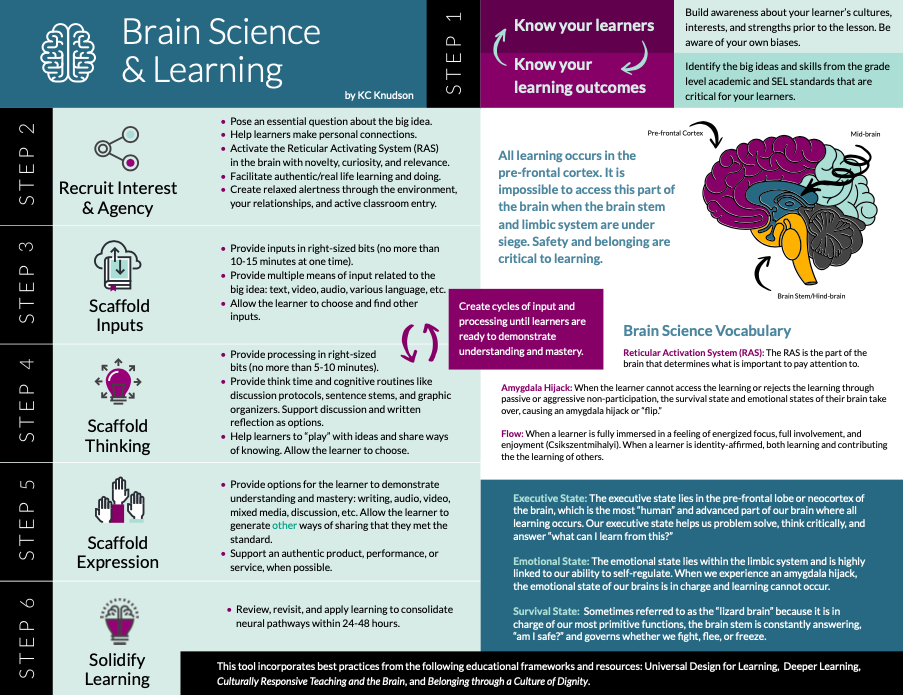 A model for UDL and Brain Learning