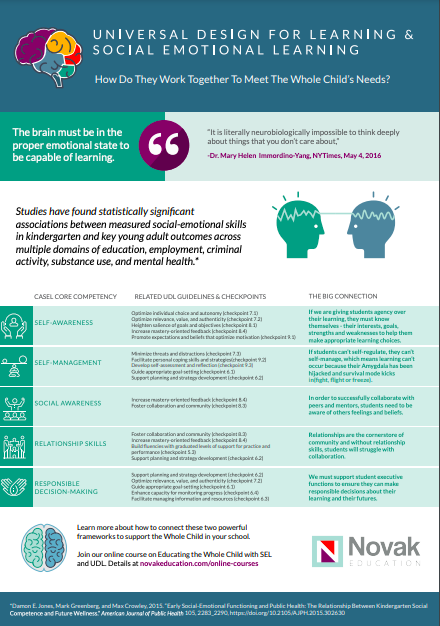 UDL and SEL Inforgraphic
